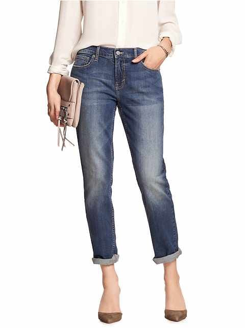 Medium Wash Girlfriend Jean