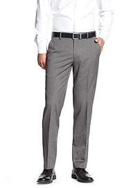 Tailored-Fit Grey Suit Trouser