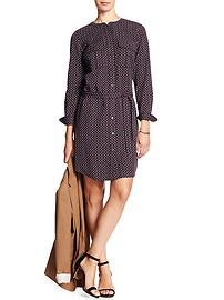 Print Military Shirtdress