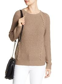 Rope-Stitch Cable Sweater