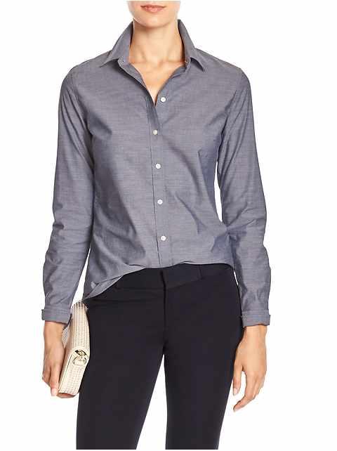 Chambray Tailored Non-Iron Shirt