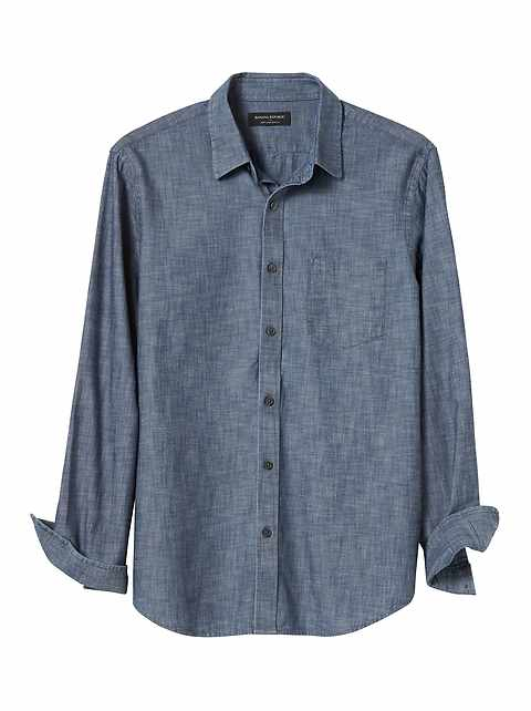 Slim-Fit Soft Wash Chambray Shirt