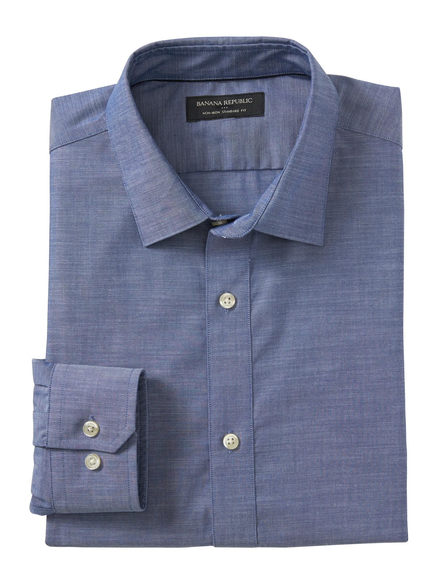 01f220aab0 Standard-Fit Non-Iron Chambray Shirt