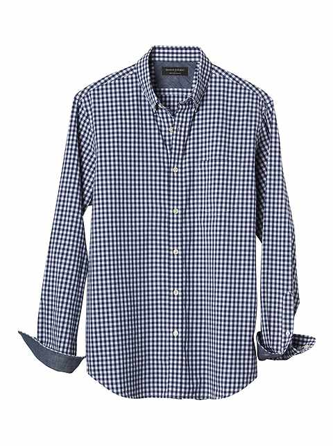 Slim-Fit Soft Wash Gingham Shirt