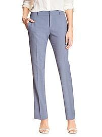Reegan-Fit Chambray Slim Straight Suit Pant