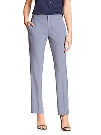 Jackson-Fit Chambray Slim Straight Suit Pant