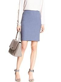 Chambray Pencil Skirt