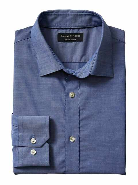 Slim-Fit Non-Iron Chambray Shirt