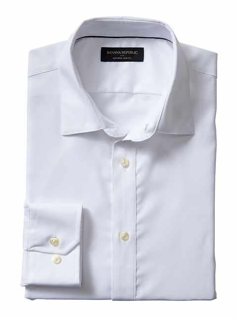 Slim-Fit Non-Iron White Shirt
