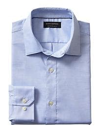 Relaxed Classic-Fit Non-Iron Blue Shirt