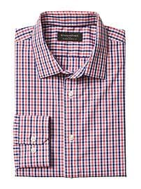 Standard-Fit Non-Iron Mini Gingham Shirt