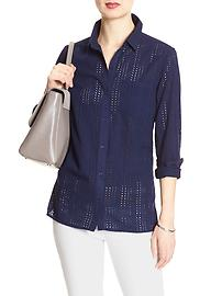 Eyelet Classic Buttondown Shirt