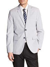 Tailored Slim-Fit Stretch Cordoroy Cotton Blazer