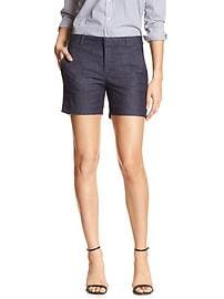 Tailored Chambray Short