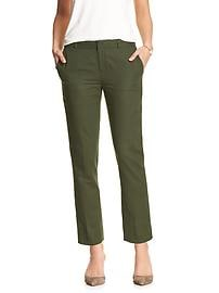 Hampton-Fit Color Linen/Cotton Tailored Crop Pant