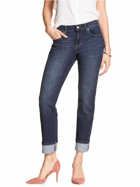 Medium Wash Straight Leg Jean
