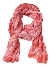 Shadow Paisley Scarf