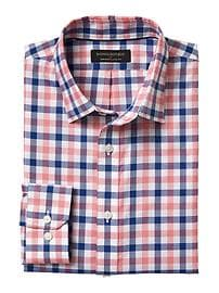 Classic-Fit Non-Iron Pink Gingham Shirt