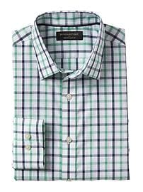 Slim-Fit Non-Iron Plaid Shirt