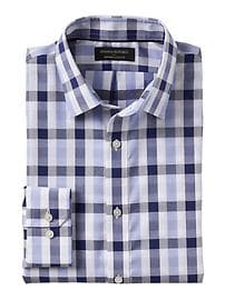 Classic-Fit Non-Iron Blue Gingham Shirt