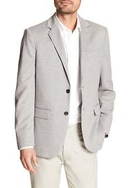 Tailored Slim-Fit Grey Knit Blazer