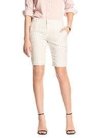 Linen Pinstripe Tailored Bermuda Short