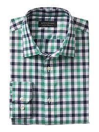 Standard-Fit Non-Iron Plaid Shirt