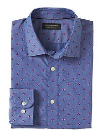 Standard-Fit Non-Iron Floral Shirt