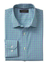 Slim-Fit Non-Iron Grid Shirt