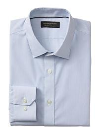 Standard-Fit Non-Iron Blue Stripe Shirt