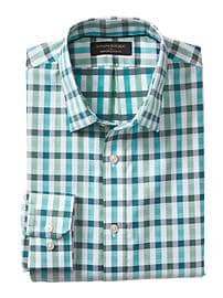 Classic-Fit Non-Iron Green Shirt