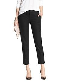Hampton-Fit Pique Tailored Crop Pant