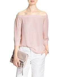 3/4-Sleeve Off-Shoulder Top