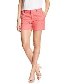 Tailored Eyelet Short