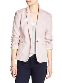 Sateen One-Button Suit Blazer