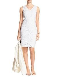 Lace Vee Sheath Dress