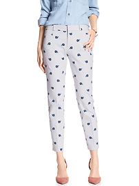 Print Jackson-Fit Slim Ankle Pant