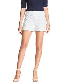 Eyelet High-Waisted Short