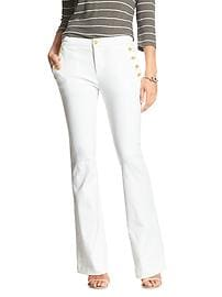 White Sailor Flare Jean