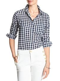 Plaid Crinkle Classic Buttondown Shirt