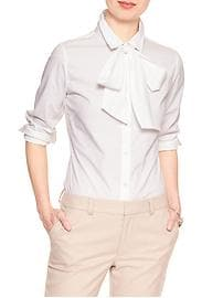 Tie-Neck Tailored Shirt