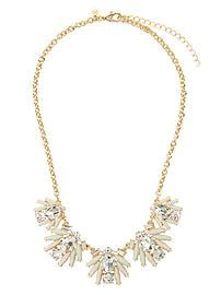 Floral Stone Statement Necklace