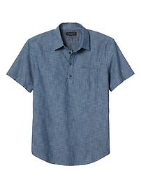 Standard-Fit Soft Wash Print Short-Sleeve Shirt