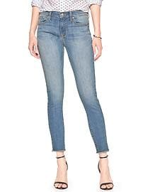 Medium Frayed-Hem High Rise Skinny Jean