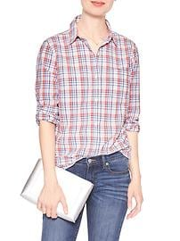 Poplin Softwash Classic Plaid Shirt