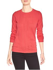 Machine Washable Forever Pointelle Crew Sweater