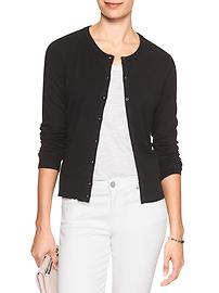 Machine Washable Premium Luxe Crew-Neck Cardigan
