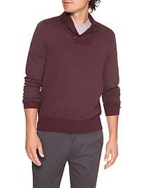 Shawl-Collar Pullover Sweater