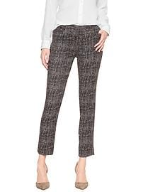 Sloan Crosshatch Slim Ankle Pant