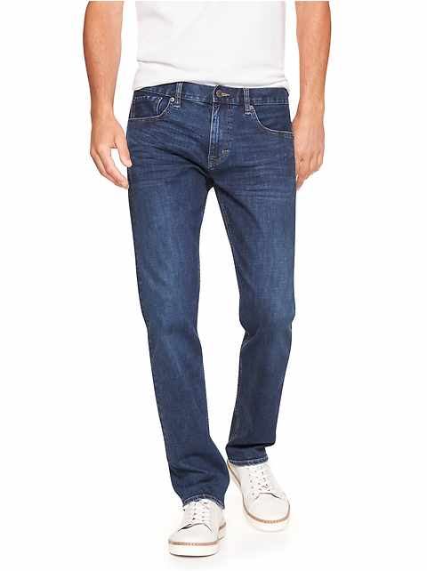 Techmotion Slim-Fit Stretch Dark Wash Jean